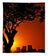 Buenos Aires At Sunset Fleece Blanket