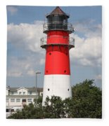 Buesum Lighthouse - North Sea - Germany Fleece Blanket