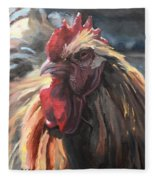 Buff Orpington Cockerel Fleece Blanket