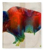 Buffalo Animal Print - Wild Bill - By Sharon Cummings Fleece Blanket