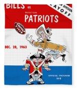 Buffalo Bills 1963 Playoff Program Fleece Blanket