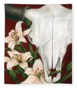 Buffalo Lilies Fleece Blanket