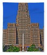 Buffalo Marathon 2013 City Hall View  Fleece Blanket