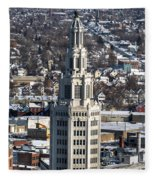 Buffalo Ny Electric Building Winter 2013 Fleece Blanket