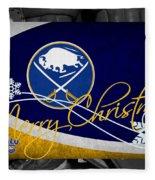 Buffalo Sabres Christmas Fleece Blanket
