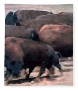 Buffalo Stampede Fleece Blanket
