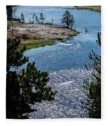 Buffs On River Fleece Blanket