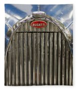 Bugatti In Blue Fleece Blanket
