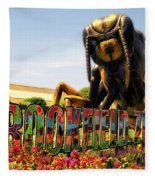 Bugs At Brookfield Zoo Signage Fleece Blanket