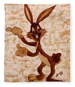Bugs Banny Original Coffee Painting Fleece Blanket