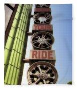 Build Your Ride Signage Downtown Disneyland 01 Fleece Blanket