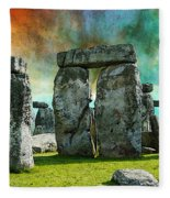 Building A Mystery - Stonehenge Art By Sharon Cummings Fleece Blanket