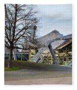 Building At Olympic Village Munich Germany Fleece Blanket
