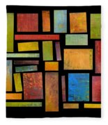 Building Blocks Three Fleece Blanket