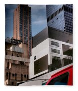 Tribute To Leger 3 - Building Blocks - Architecture Of New York City Fleece Blanket