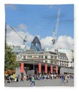Building Work In The City Of London Fleece Blanket