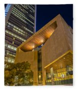 Buildings And Architecture Around Mint Museum In Charlotte North Fleece Blanket