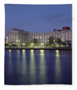 Buildings At The Waterfront, Cape Fear Fleece Blanket