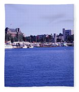 Buildings At The Waterfront, Inner Fleece Blanket