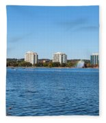 Buildings At The Waterfront, Kempenfelt Fleece Blanket