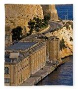 Buildings By The Mediterranean Sea Fleece Blanket