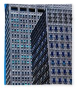 Buildings Downtown Pittsburgh Fleece Blanket