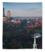 Buildings In A City, Boston Common Fleece Blanket