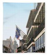Buildings In A City, Four Points By Fleece Blanket