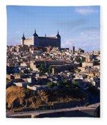 Buildings In A City, Toledo, Toledo Fleece Blanket
