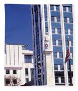 Buildings Viewed From Confederate Fleece Blanket