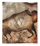 bull a la Altamira Fleece Blanket