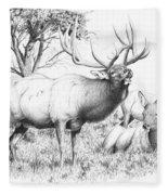 Bull And Harem Fleece Blanket