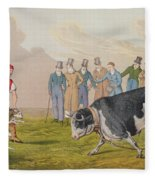 Bull Baiting Fleece Blanket