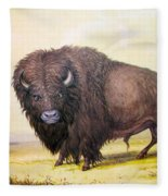 Bull Buffalo Fleece Blanket