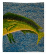 Bull Dolphin Mahimahi Fish Fleece Blanket