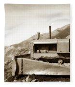 Bull Dozer Road Construction On Highway One Big Sur Circa 1930 Fleece Blanket