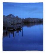 Bull Frog Creek II Gibsonton Fl Usa Near Infrared Fleece Blanket