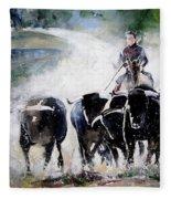 Bull Herd Fleece Blanket