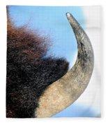 Bull Horn Fleece Blanket
