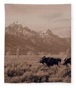 Bull Moose Fleece Blanket