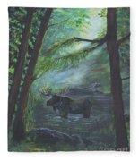 Bull Moose Pond Fleece Blanket