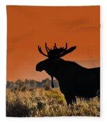 Bull Moose Sunset Fleece Blanket