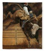 Bull Riding 1 Fleece Blanket
