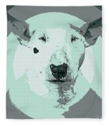 Bull Terrier Graphic 3 Fleece Blanket