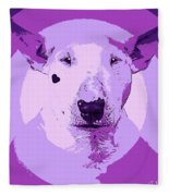 Bull Terrier Graphic 5 Fleece Blanket