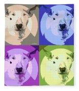 Bull Terrier Pop Art Fleece Blanket