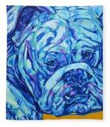 Bulldog Blues Fleece Blanket