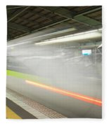 Bullet Train Fleece Blanket