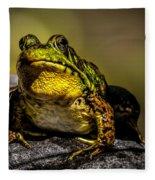 Bullfrog Watching Fleece Blanket