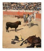Bulls. Dead Horses Fleece Blanket